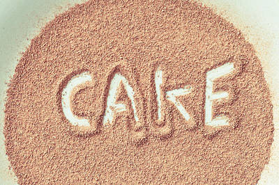 Cocoa Powder Photograph - Cake by Tom Gowanlock