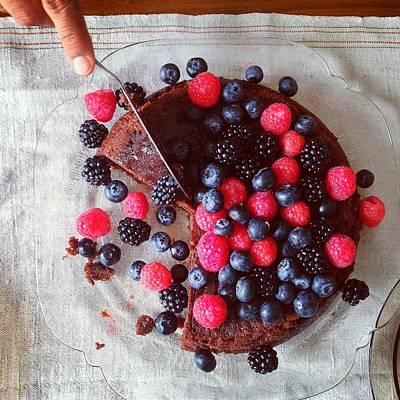 Cake With Berries Art Print by Shilpa Harolikar