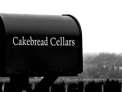 Cakebread Cellars Art Print by Jeff Lowe