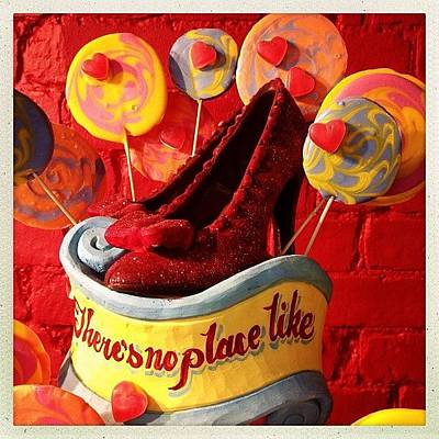 Wizard Photograph - Cakes #wizard #oz #red #slippers by Luis Aviles