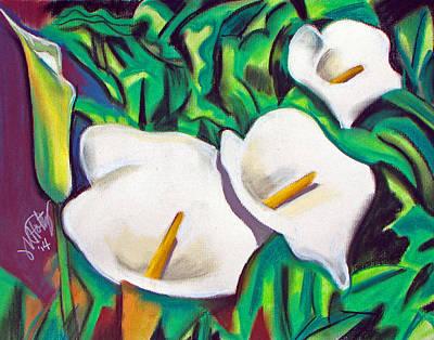 Pastel - Cal Lillies by Michael Foltz