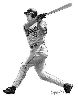 Batting Drawing - Cal Ripken Jr II by Harry West