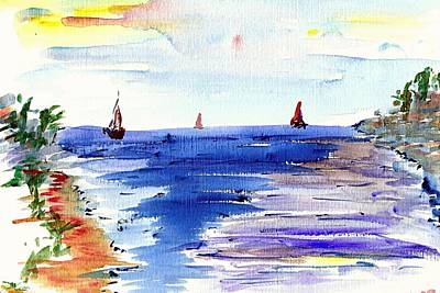 Painting - Cala Gran Majorca by Anthony Fox
