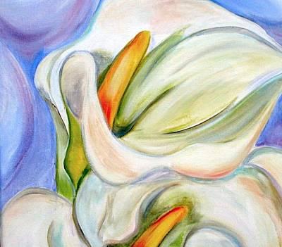 Georgia Okeefe Painting - Cala Lily by Debi Starr
