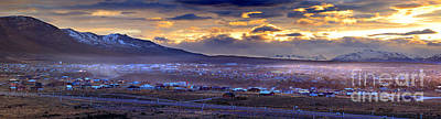 Calafate Panoramic Art Print by Bernardo Galmarini