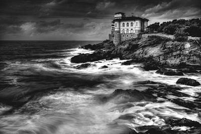 Lighthouse Photograph - Calafuria. by Antonio Grambone
