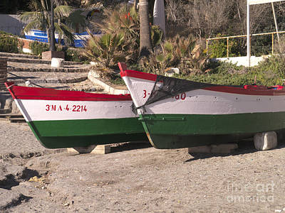 Photograph - Calahonda Fishing Boats by Brenda Kean