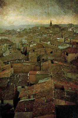 Calahorra Roofs From The Bell Tower Of Saint Andrew Church Art Print by RicardMN Photography