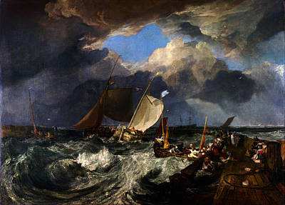 Turner Artwork Painting - Calais Pier by Celestial Images