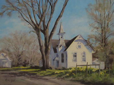Painting - Calapooia Church by Karen Ilari