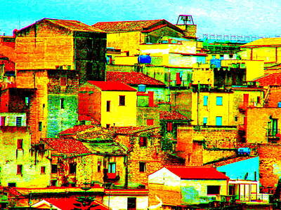Sicily Digital Art - Calatafimi Sicily by Frank  Maimone