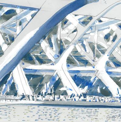 Arcitecture Drawing - Calatrava 2 by Olga Sorokina