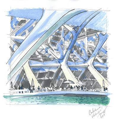 Arcitecture Painting - Calatrava 1 by Olga Sorokina