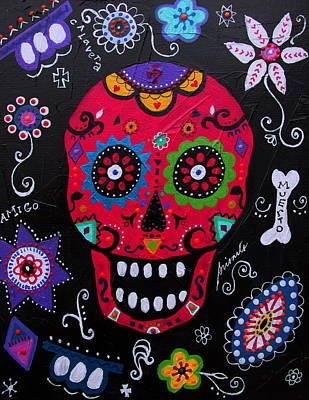 Painting - Calavera Dia De Los Muertos by Pristine Cartera Turkus
