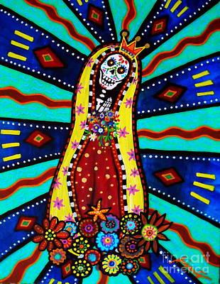 Virgen De Guadalupe Painting - Calavera Virgen by Pristine Cartera Turkus