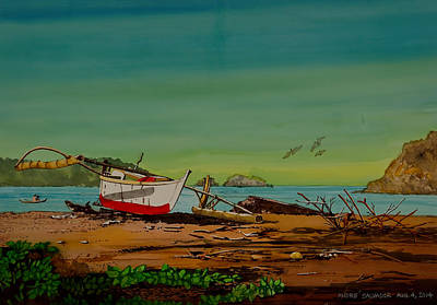 Painting - Calayo Bay Batangas by Andre Salvador