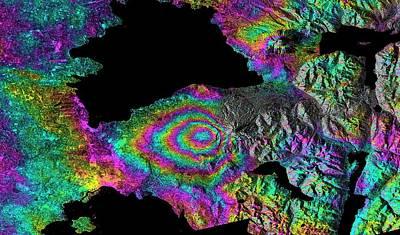 Synthetic Aperture Radar Photograph - Calbuco Volcano Eruption by Esa/nasa/jpl-caltech