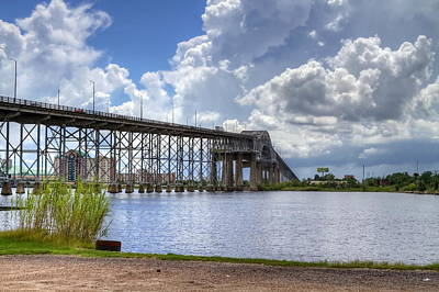 Calcasieu River Bridge Art Print by David Byron Keener