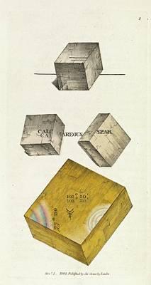 Calcium Photograph - Calcium Carbonate Crystals by Royal Institution Of Great Britain