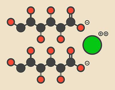 Calcium Gluconate Drug Molecule Art Print by Molekuul