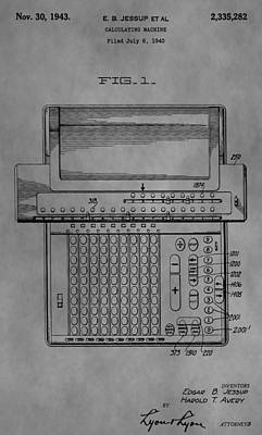 Divisions Drawing - Calculating Machine by Dan Sproul