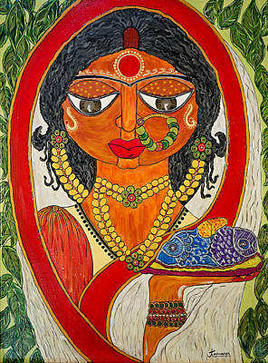 Conservative Painting - East Indian Bengali Bride by Anannya Chowdhury