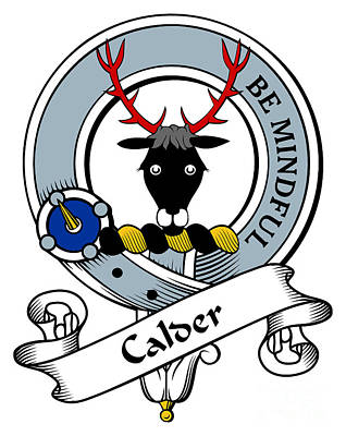 Calder Clan Badge Art Print by Heraldry