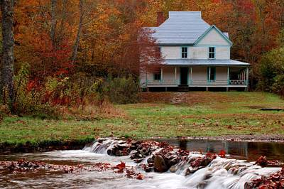 Great Smoky Mountains National Park Photograph - Caldwell House In Fall by Carol R Montoya