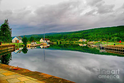 Caledonian Photograph - Caledonian Canal Fort Augustus by Chris Thaxter