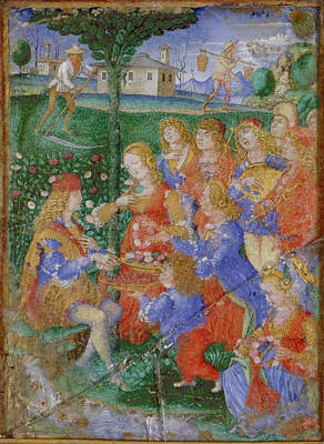 Calendar Leaf From Sforza Hours Art Print