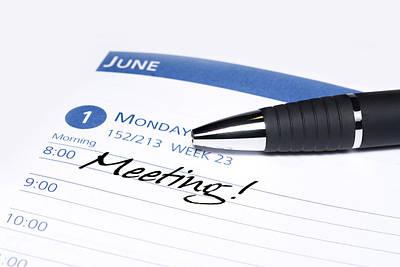 Calendar Meeting Reminder Art Print