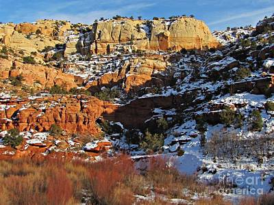 Beers On Tap - Calf Creek - Winter Scenery by Sheryl Young