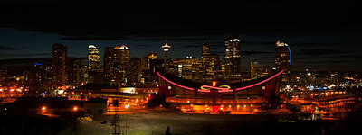 Photograph - Calgary At Night by Guy Whiteley
