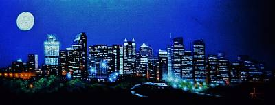 Calgary Canada In Black Light Original by Thomas Kolendra