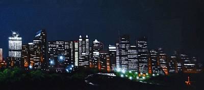 Calgary Canada No Moon Art Print
