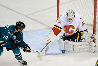 Photograph - Calgary Flames V San Jose Sharks by Thearon W. Henderson