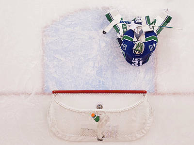 Photograph - Calgary Flames V Vancouver Canucks - by Rich Lam
