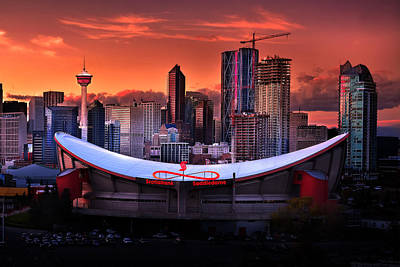 Photograph - Calgary Skyline At Dusk by John Poon