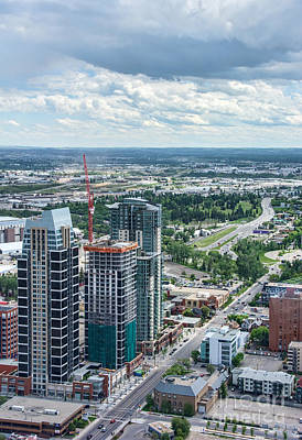 Photograph - Calgary Skyscrapers Seen From The Calgary Tower by Gerda Grice