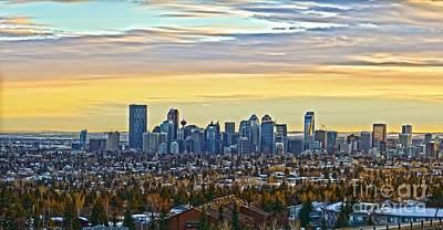 Photograph - Calgary Sun Set by Edward Kovalsky
