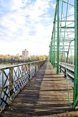 Walkway Digital Art - Calhoun Street Bridge Walkway by Bill Cannon