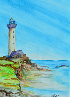 Monteray Bay Painting - Cali Lighthouse by Catherine Blake