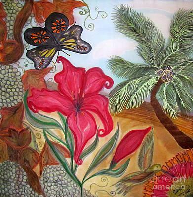 California Vineyard Painting - Cali by Veronica V Jackson