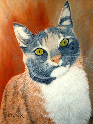 Painting - Calico Cat by Karen Zuk Rosenblatt