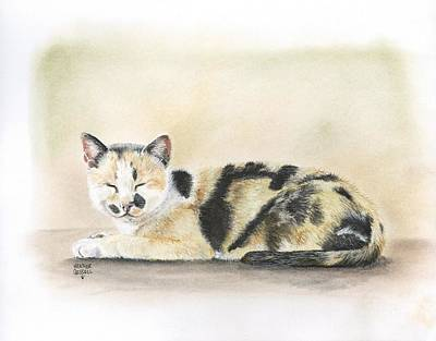 Calico Art Print by Heather Gessell