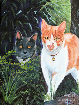 Painting - Califorian Cats by Art By - Ti   Tolpo Bader