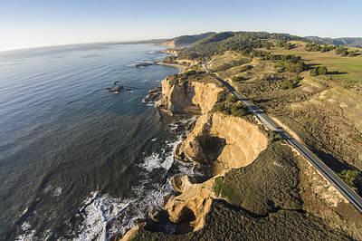 Davenport Beach Photograph - California's Rugged Coastline by David Levy