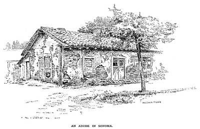 California Adobe House Art Print by Granger