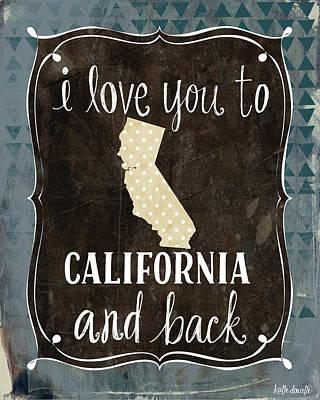 California And Back Art Print