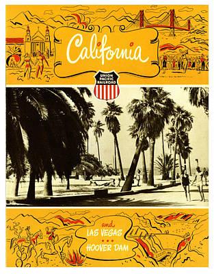 Rail Digital Art - California And Las Vegas by Georgia Fowler